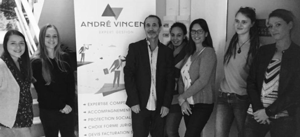 L'équipe d'experts-comptables du cabinet André Vincent Expert à Lyon